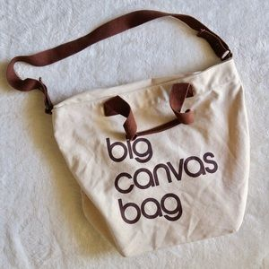 BLOOMINGDALES EXCLUSIVE BIG CANVAS BAG